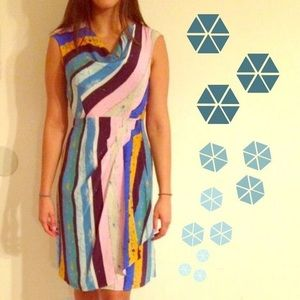 Tracy Reese paint strokes dress colorful